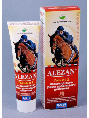 Alezan gel 2 in 1 with a cooling-warming effect, 100ml