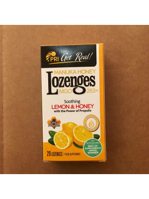 MANUKA HONEY & PROPOLIS LOZENGES – LEMON