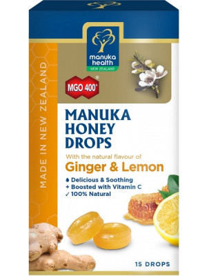 Manuka Honey Lozenges, Ginger & Lemon, 15 Lozenges