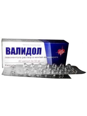 Validol 40 capsules 50 mg