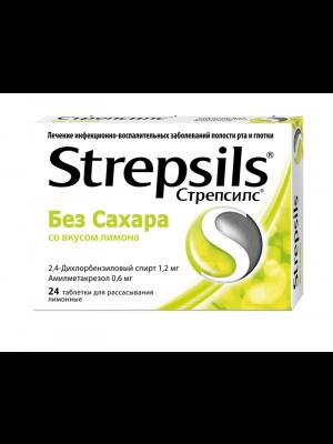 Strepsils Lemon Sugar-Free Lozenges