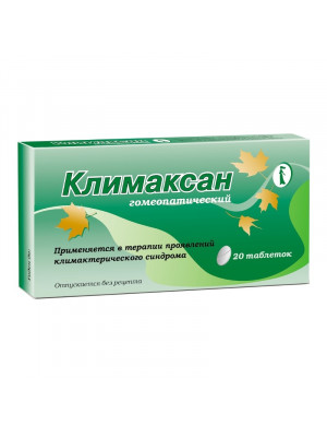 klimaksan homeopathic pills, 20 pcs.