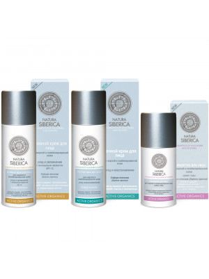 NATURA SIBERICA Oily Skin Active Organics, Set of 3