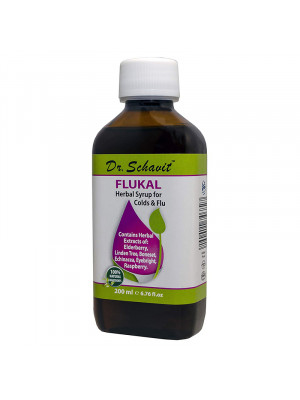 Dr.Schavit FLUKAL Herbal syrup for Colds & Flu, 200 ml