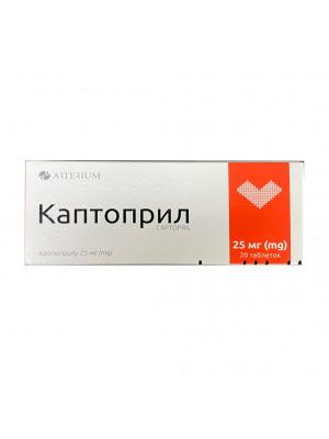 Captopril  20 tablets 25mg